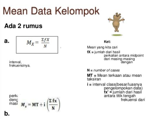 Cara Mencari Mean Modus Dan Median Dalam Data Kelompok Belajar Matematika