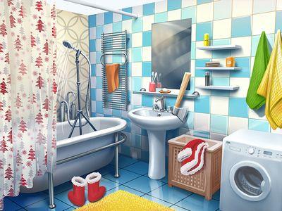 bathroom   bathroom illustration, bathroom drawing