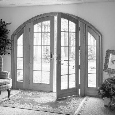 Ventanas para arcos arco de aluminio de la puerta - Puerta balconera aluminio ...