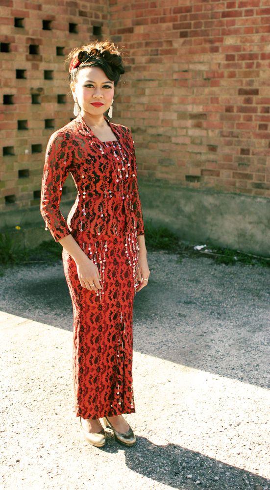 1960s Malay Kebaya From Singapore Outfits Fashion Long Sleeve