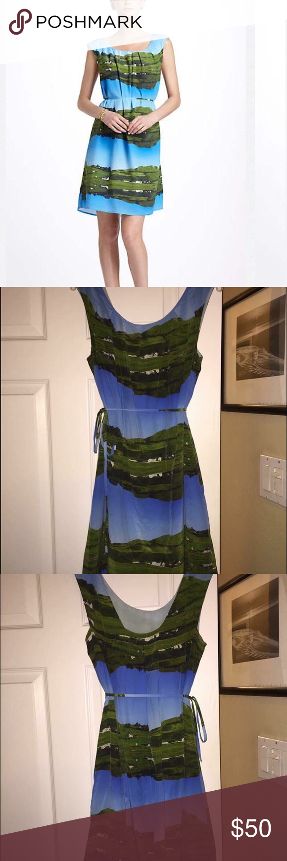 🌷 Anthropologie Meadow Rue Cuillin Dress 🌷 ($248) Lined. No slip. 100% silk. 5 star reviews. Bust 18. Length 30. Needs a new home. Too small for me. Listed on a 24 hr auction with low starting bid so snatch it up while you can! 🌷 Anthropologie Dresses