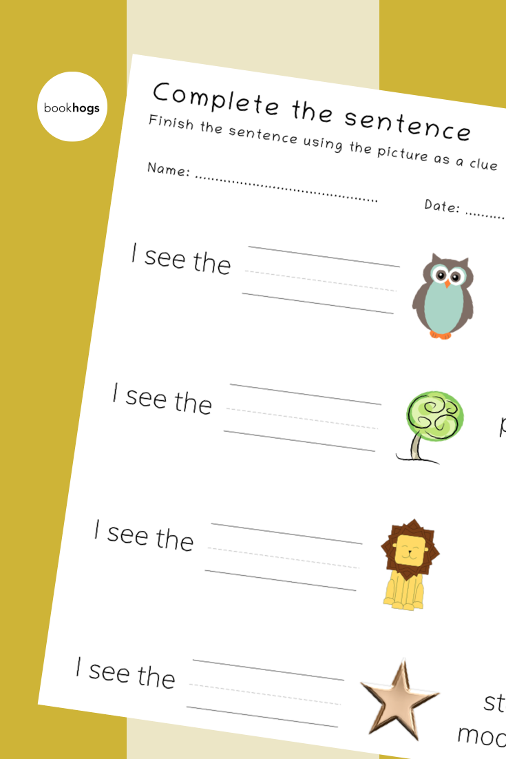 Complete the sentence in 2020 | Phonics worksheets ...