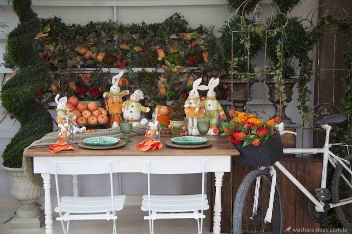 mesa de páscoa laranja/ easter tablescape