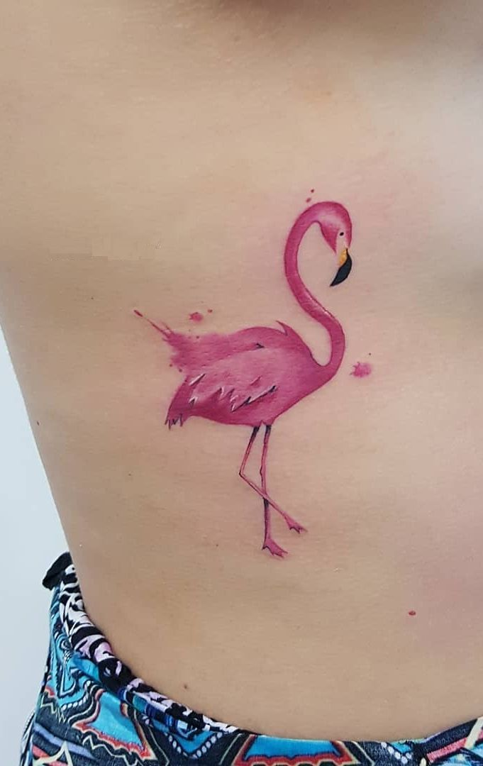 watercolor tattoos will turn your body into a living canvas in 2020 flamingo tattoo tattoos fairy tattoo designs pinterest