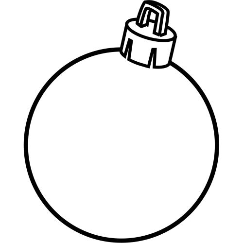 Esfera de navidad para colorear manualidades for Dibujo bola navidad