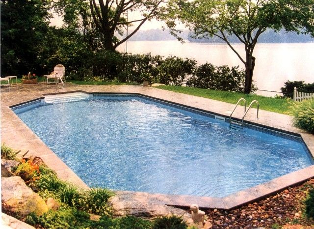 Grecian style pool | Semi Inground Pools | Pinterest ...