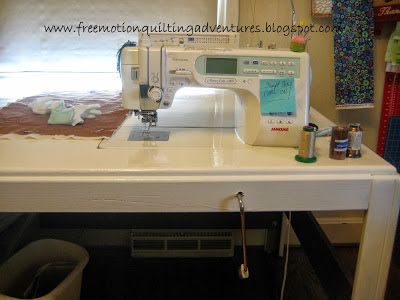 free motion quilting table DIY | Sewing room - Рукодельное место ...