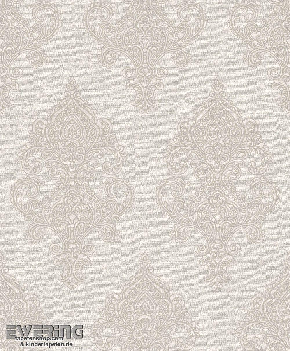 23 225708 Amira Rasch Textil Hell Beige Ornament Vlies Tapete
