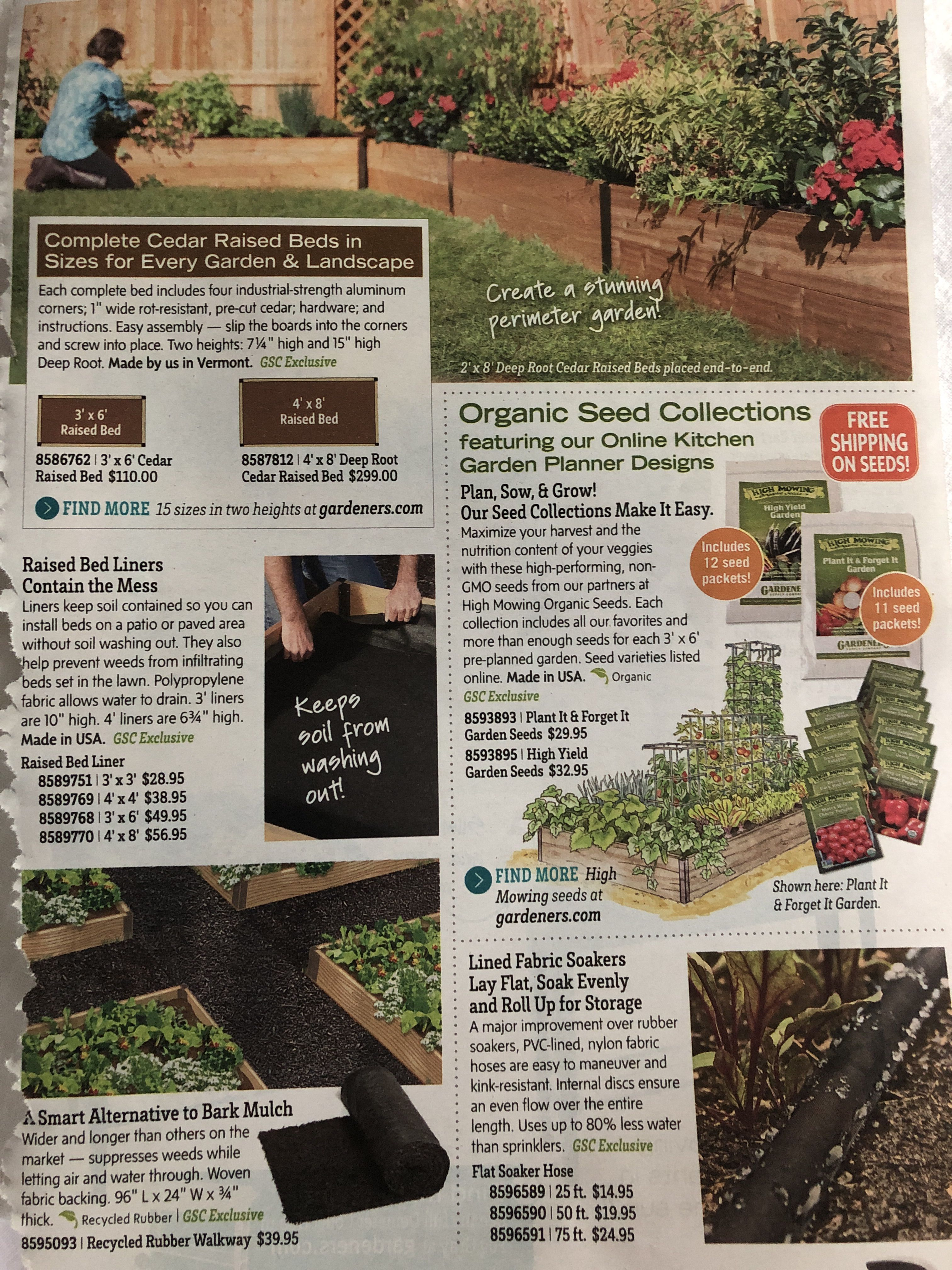 Bed Liner And Rubber Walkway Garden Landscaping Organic Seeds