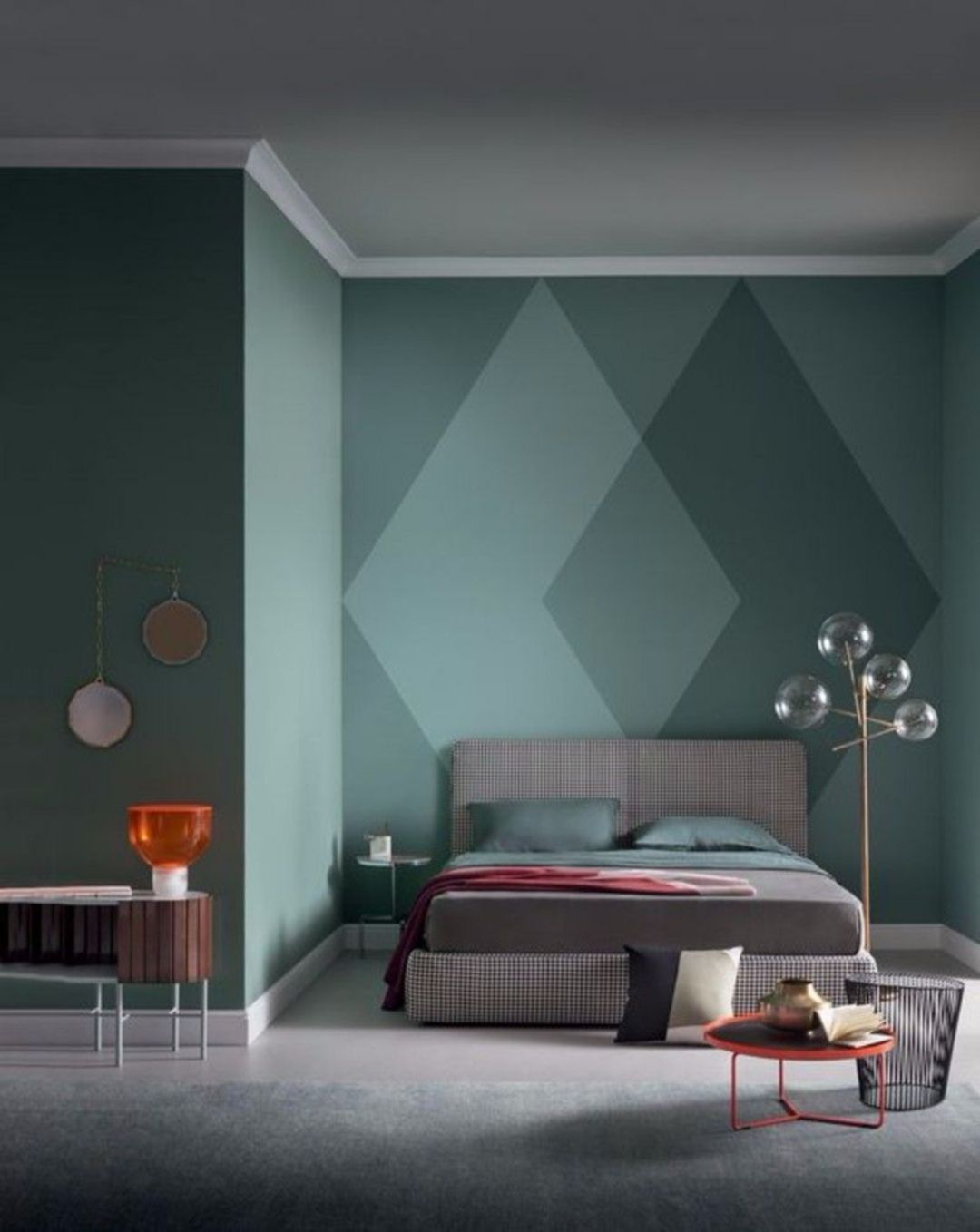 25+ Fantastic Painting Decor Ideas for Your Bedroom Wall images