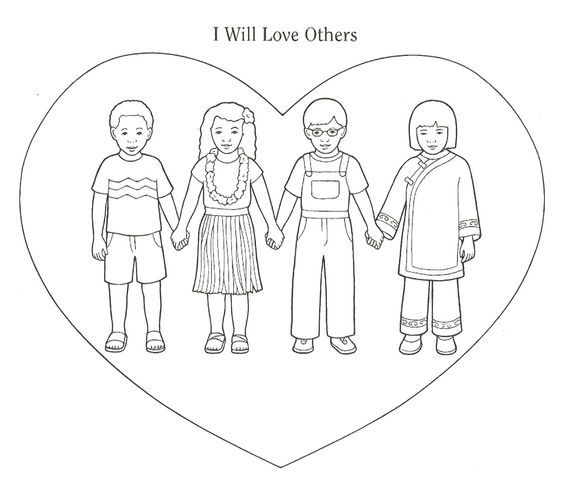 love your neighbor as yourself coloring pages Matthew 22:37-39 ...