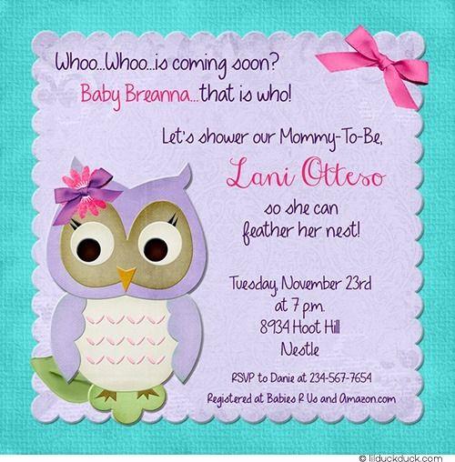 Girly bright owl shower invitation baby purple pink turquoise girly bright owl shower invitation baby purple pink turquoise filmwisefo