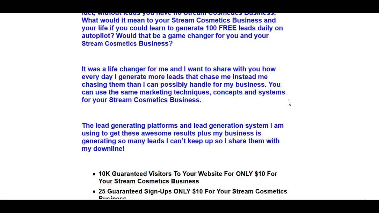 Stream Cosmetics Leads | Stream Cosmetics Beauty Leads Generate Free ...