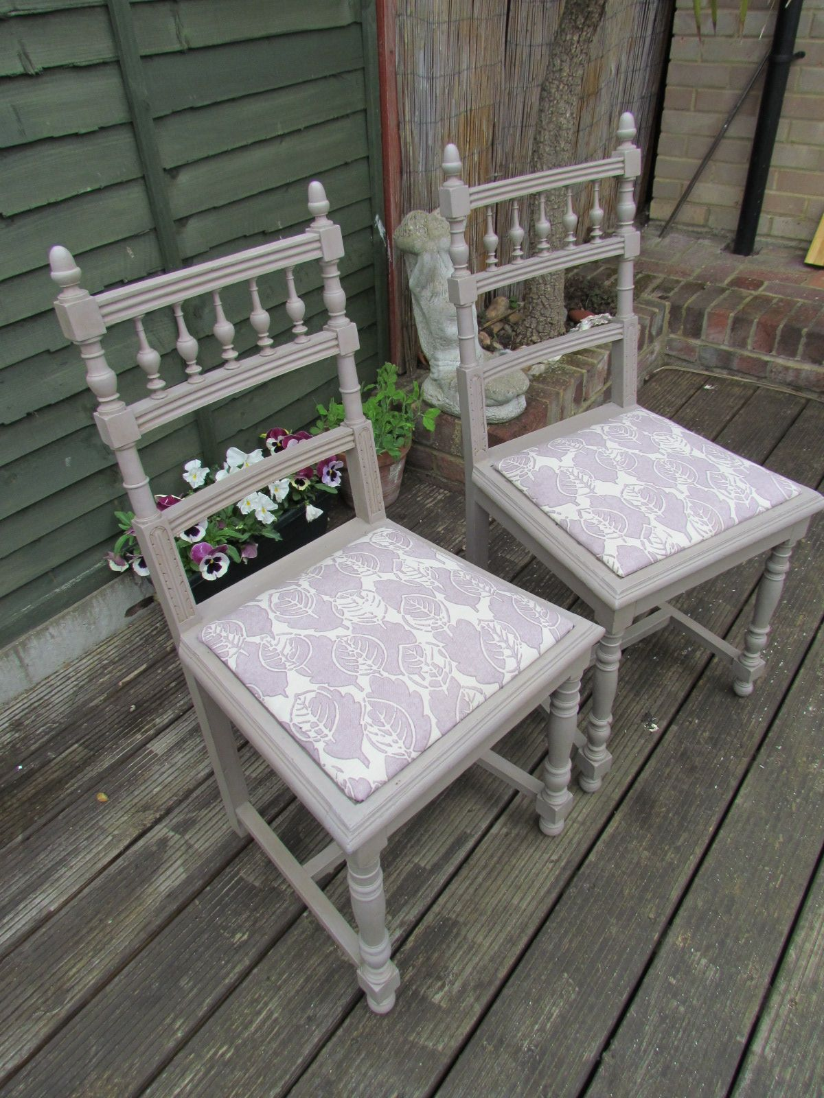 Edwardian chairs painted in Autentico Chalk Paint Morning ...
