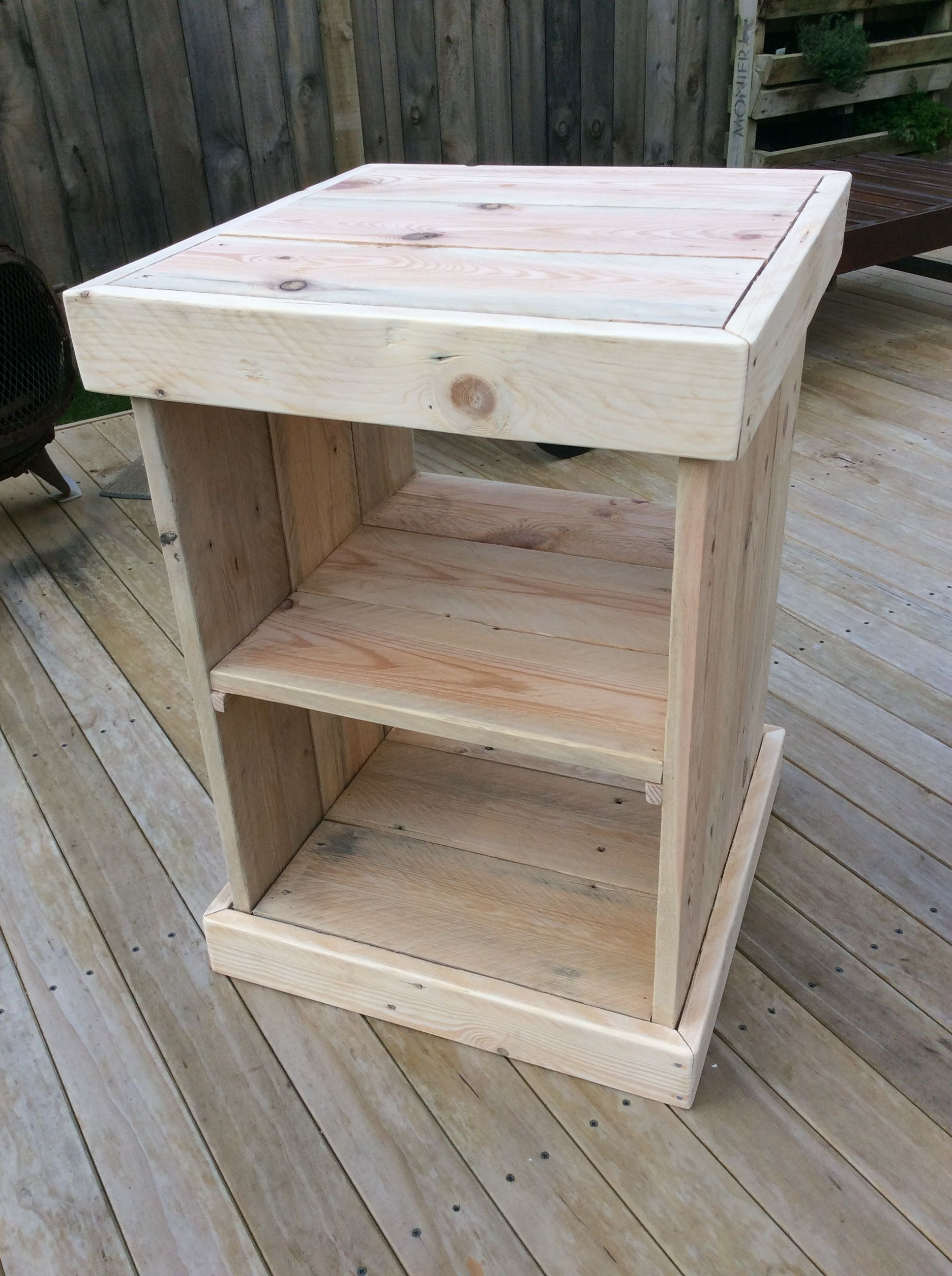 Bed side table pallet side table diy furniture rustic