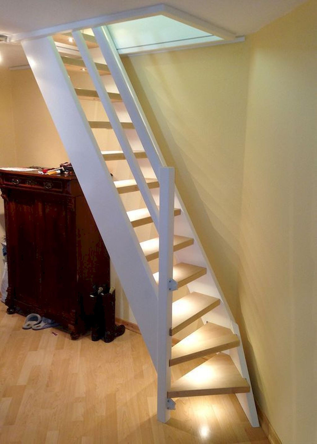 Best 16 Genius Loft Stair For Tiny House Ideas Attic Stairs 400 x 300