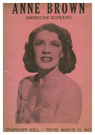 """Singer Anne Brown, the original """"Bess,"""" was the first African American female vocalist to be admitted to the Juilliard School in New York. She was only sixteen years old at the time."""