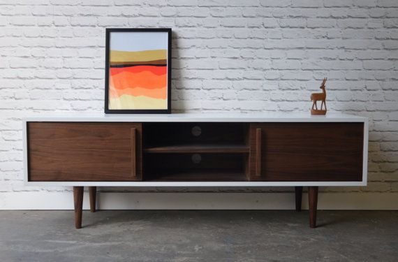 Kasse Tv Stand In White Walnut Combo Plywood Projects