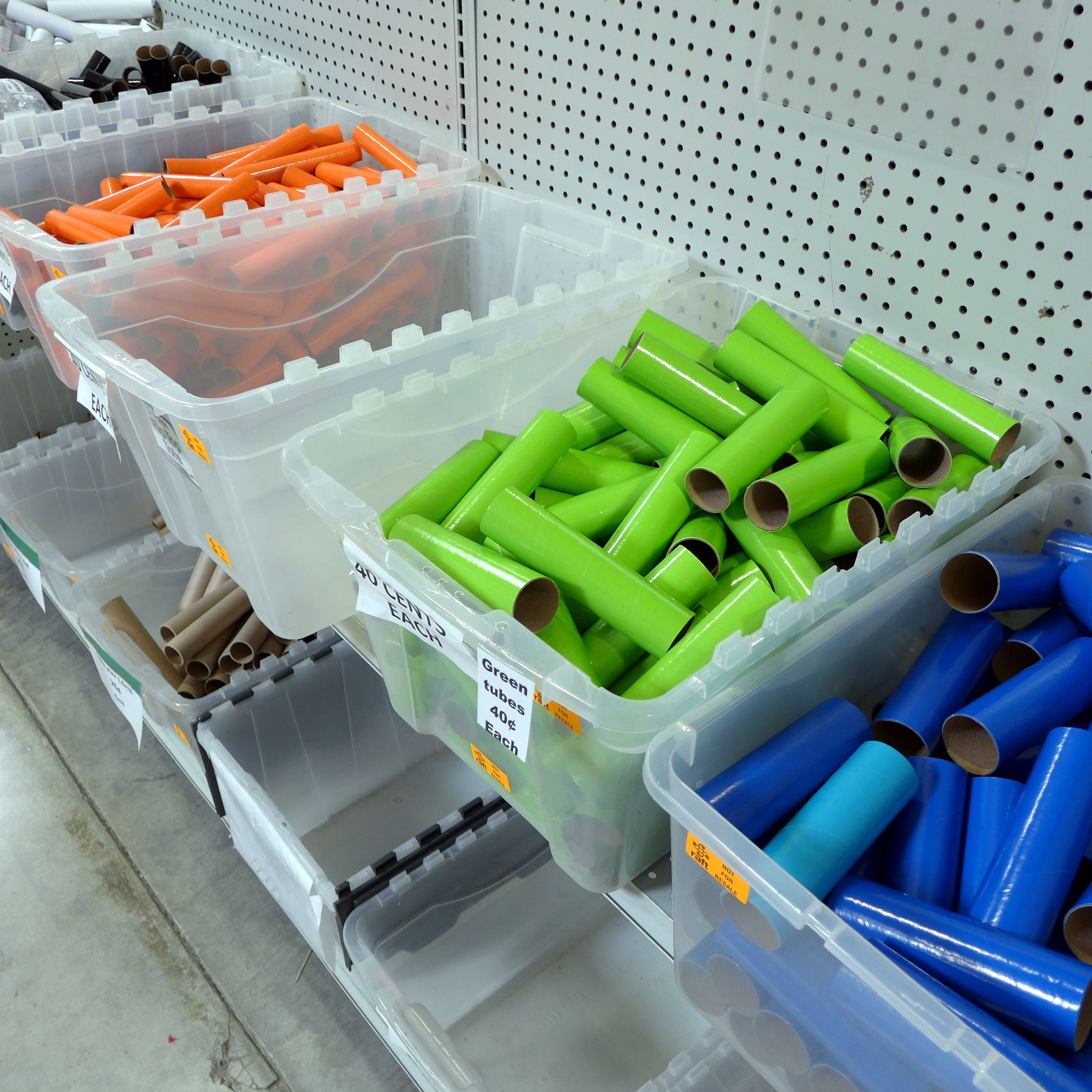 Tubes, assorted colors and sizes, 15¢40¢. Home, Redwood