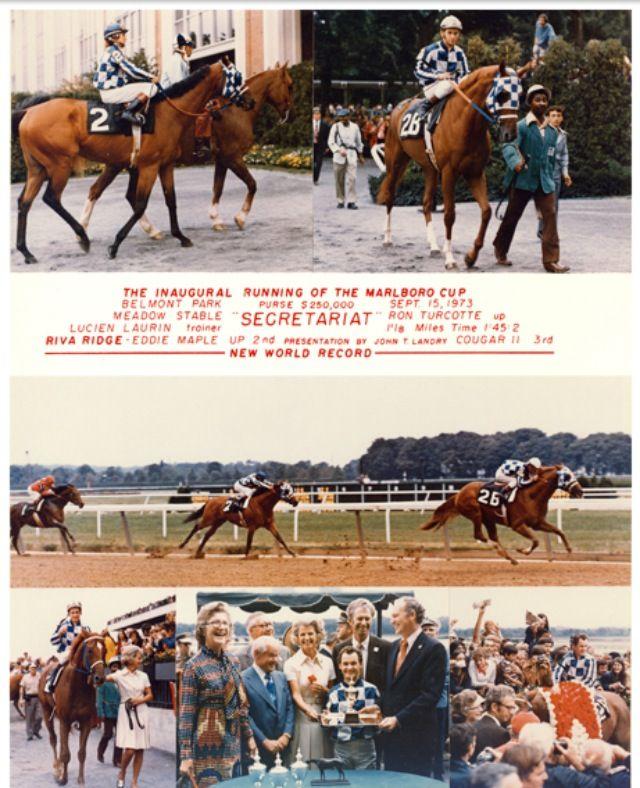 Secretariat Amp Riva Ridge The Marlboro Cup 9 15 73 At