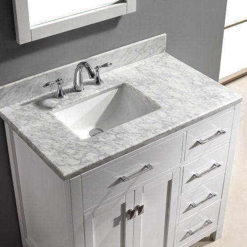 bathroom vanity top with left offset