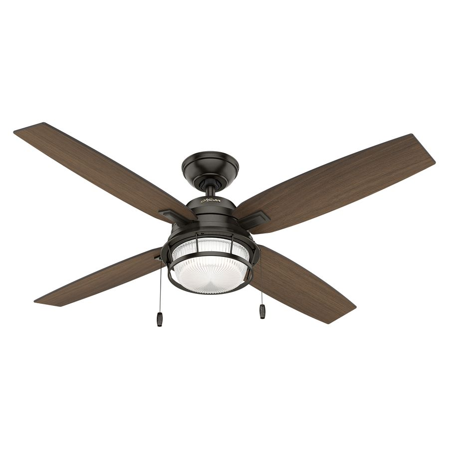 Hunter Ocala 52 In Noble Bronze Indoor Outdoor Downrod Or Close Mount Ceiling Fan