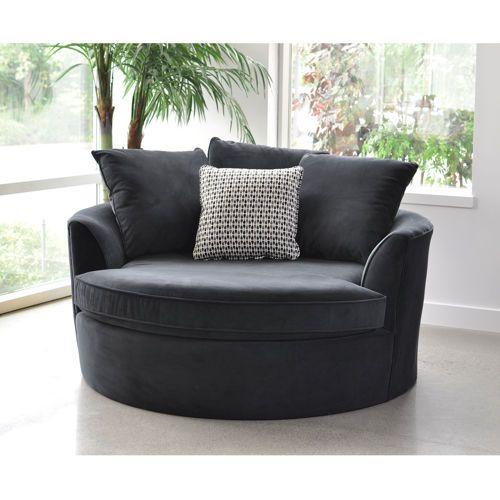 Cuddler Black Chair