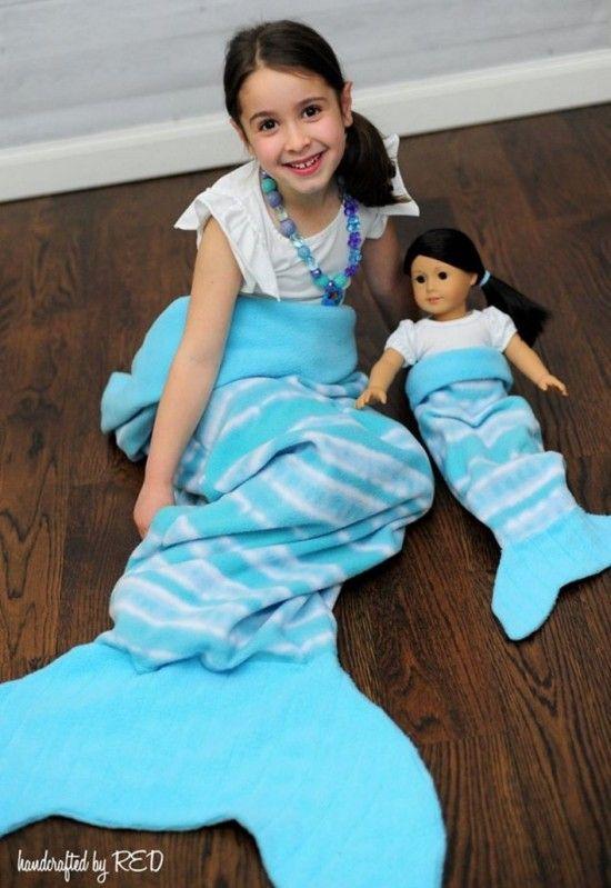 Fleece Mermaid Tail Blanket Pattern Free Sewing Ideas | Nähprojekte ...