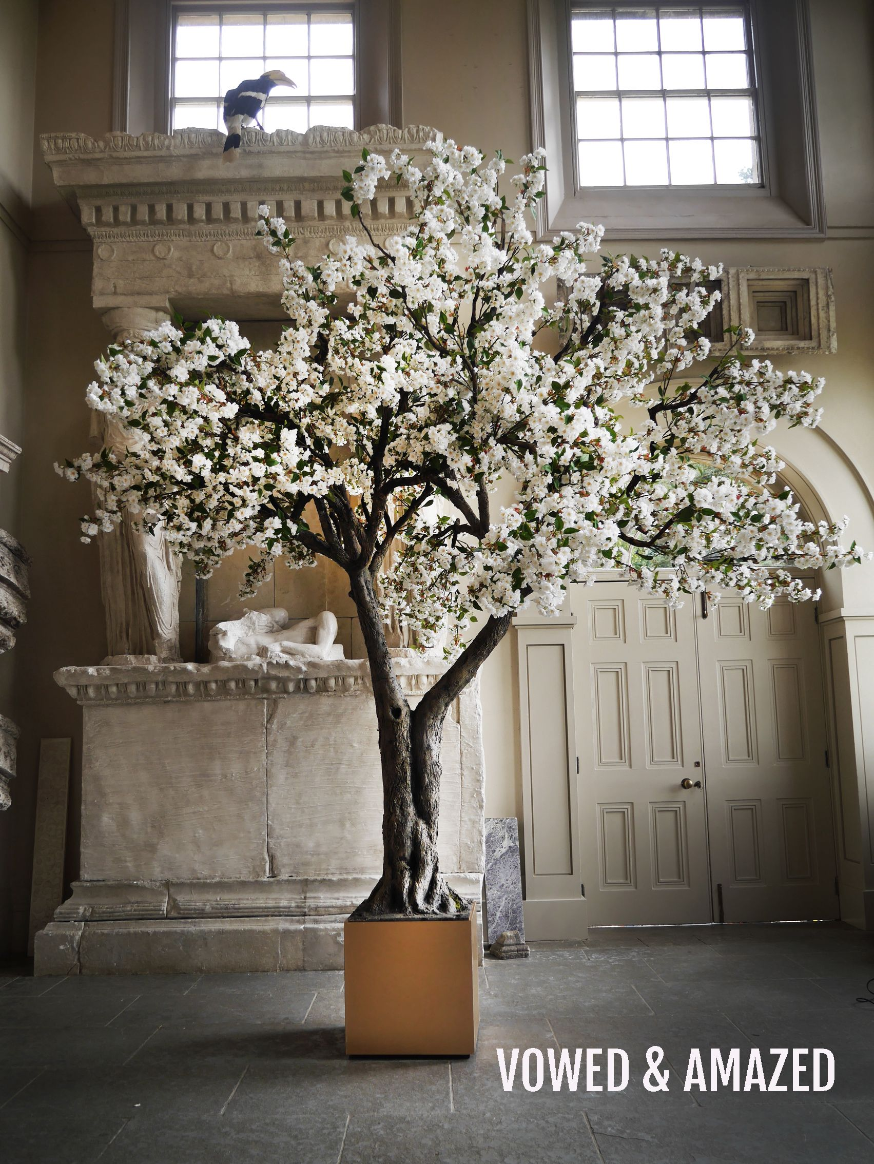 Our Extra Large Indoor Blossom Tree Makes An Amazing Centrepiece At Any Wedding Or Event Shoot Artificial Cherry Blossom Tree Blossom Trees White Blossom Tree