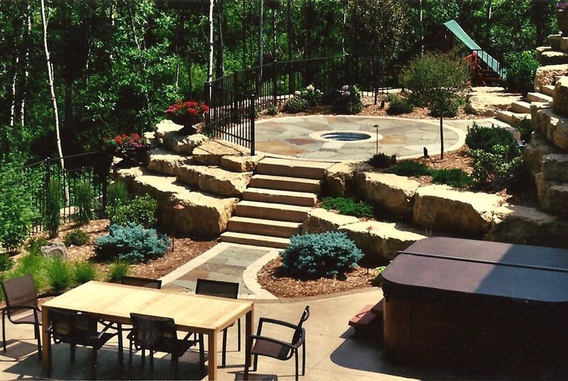 Unlevel yard ideas   Outdoor, Easy backyard, Yard ideas ... on Unlevel Backyard Ideas id=77469