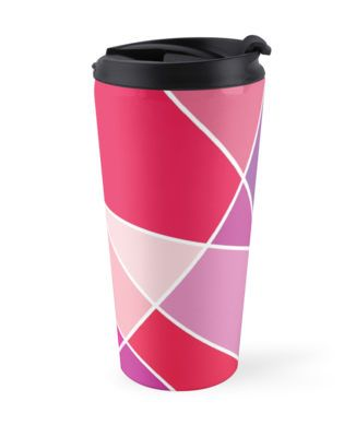 """""""Let Love In [PINK]"""" Travel Mugs by Didi Kasa   Redbubble"""