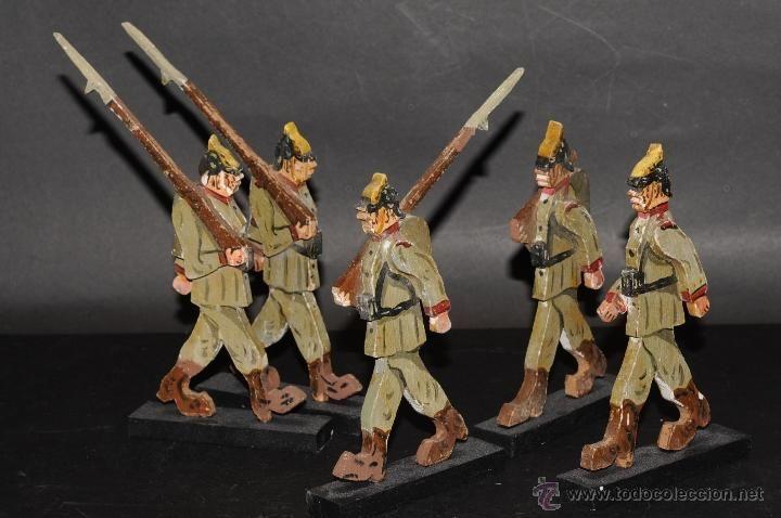 Con Juguetes Artesanales Soldados De Y AntiguosAntiguos Madera 5A4RjL