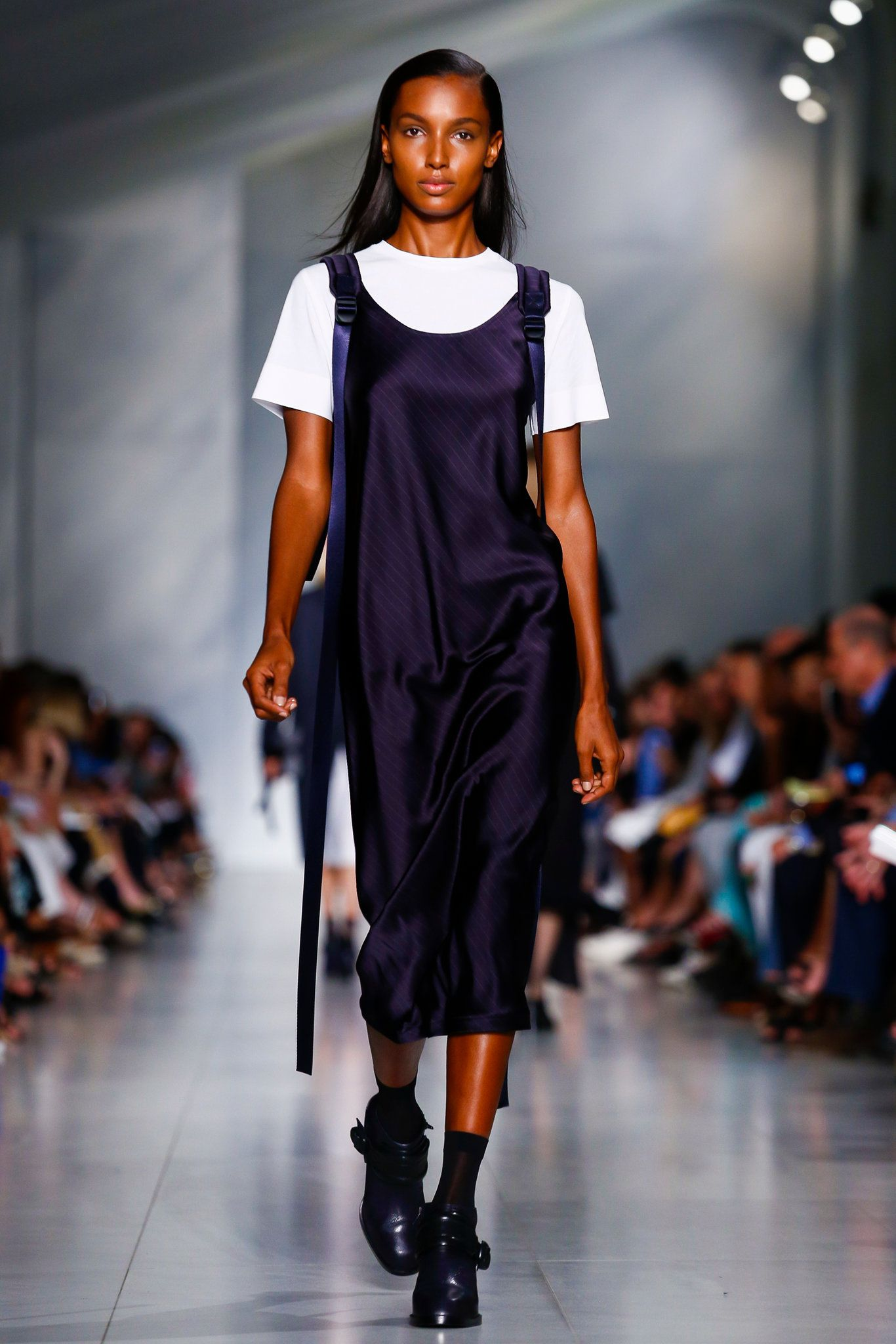 The DKNY that Maxwell Osborne and Dao-Yi Chow, otherwise known as the men behind the hip label Public School, introduced was perfectly nice, quite respectful of Donna Karan's history, tightly conceived and almost entirely bland. (Photo: Regis Colin Berthelier/NOWFASHION)