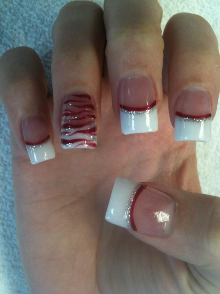 Red And White Christmas Nails Christmas Nail Designs Nails Nail