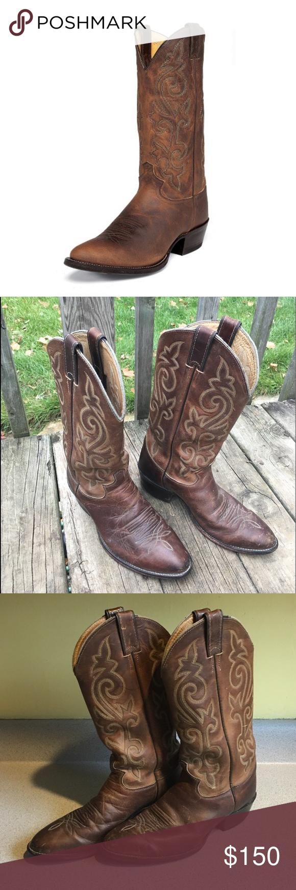 4dac7c69be4 Justin Buck Bay Apache Cowboy Boots Size 9 Justin Cowboy Boots Size ...