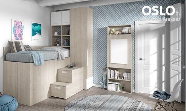 ⇨ Habitaciones juveniles pequeñas en Valencia | Muebles Intermobel®