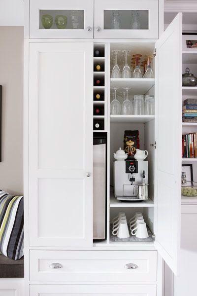 Clear Counter Clutter 10 Inspiring Appliance Garages Küche - küche mit weinkühlschrank