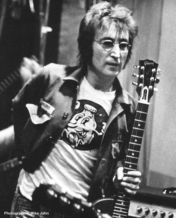 John Lennon Wearing A Creem Magazine T-shirt