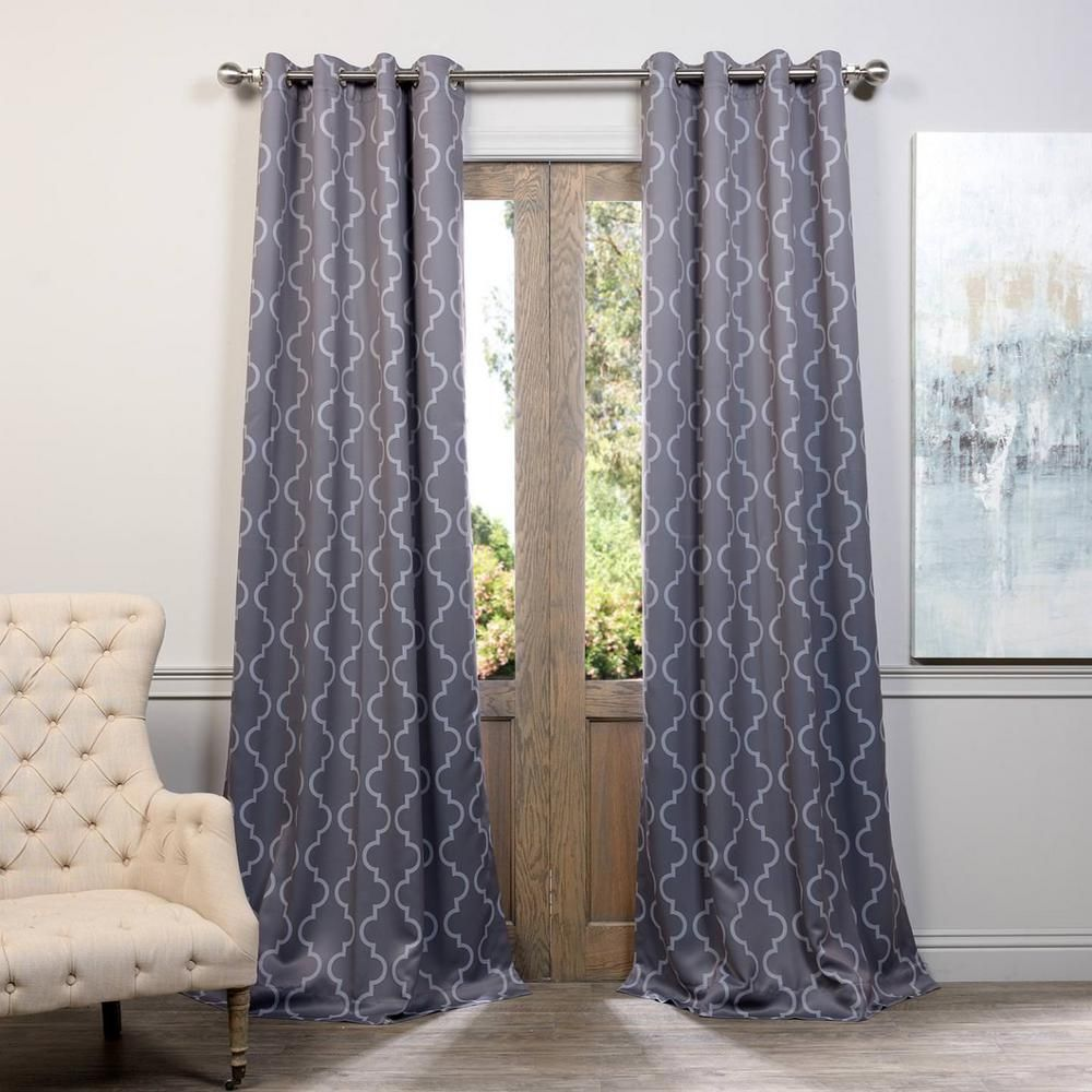 Exclusive fabrics u furnishings semiopaque seville grey and silver