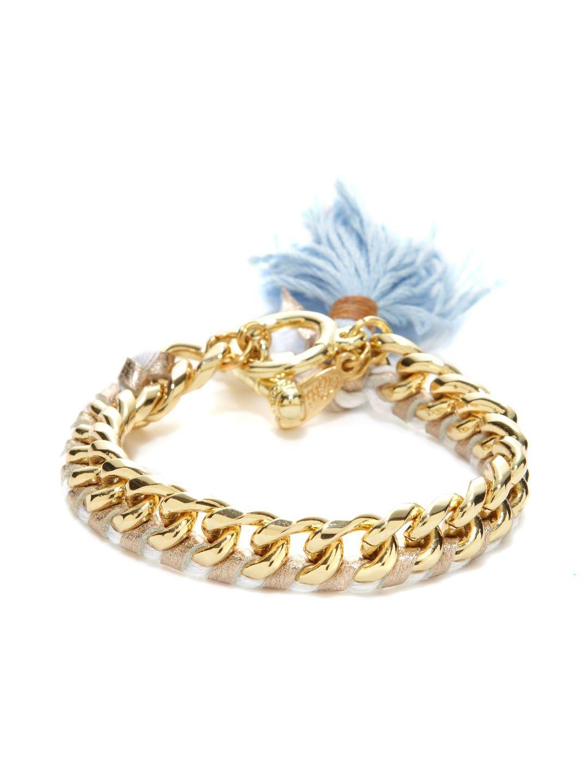 Tassel, Leather, & Chain Bracelet by Ettika Jewelry