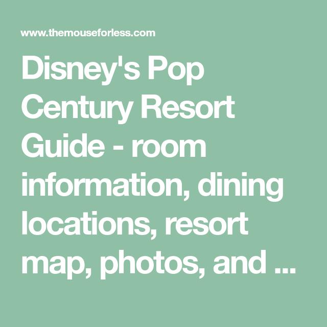 Disney\'s Pop Century Resort Guide | Walt disney, Disney s and Resorts