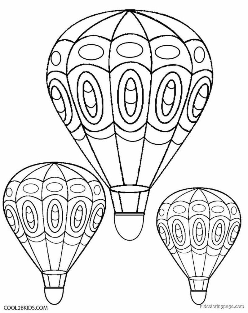 Free Printable Hot Air Balloon Coloring Pages Free Coloring Air Balloon Coloring Pages Balloons