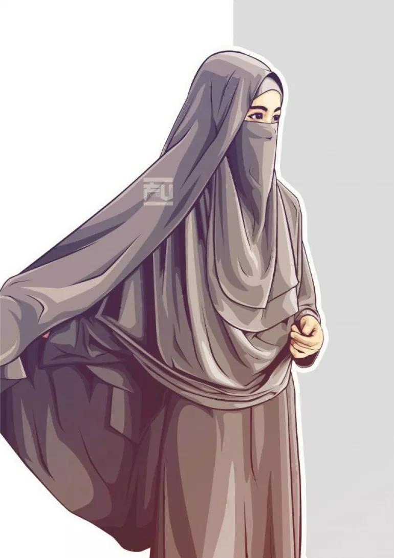 Gambar Wanita Muslimah Bercadar Cantik Dan Anggun (With
