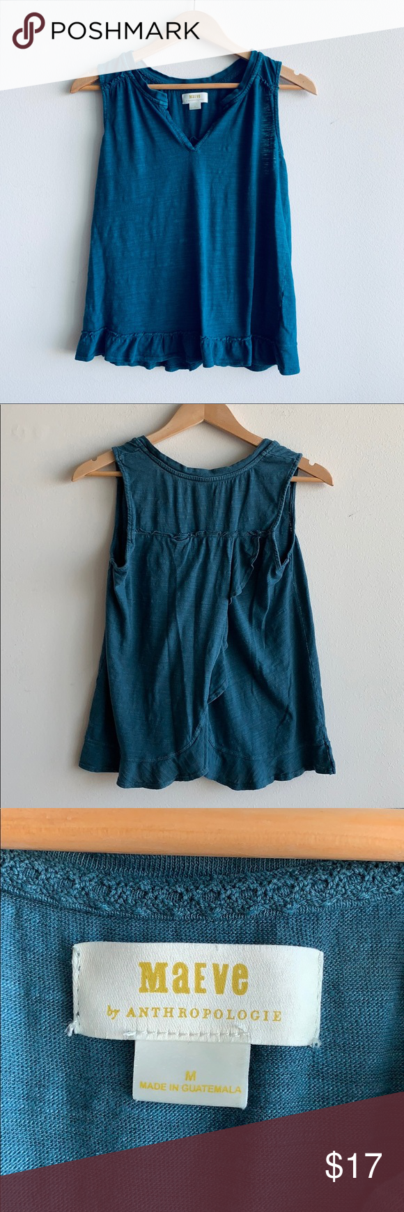 "3166769dde041 MAEVE - Green Top Great pre owned conditions Top length 22"" Chest length  20"" Anthropologie Tops Tees - Short Sleeve"