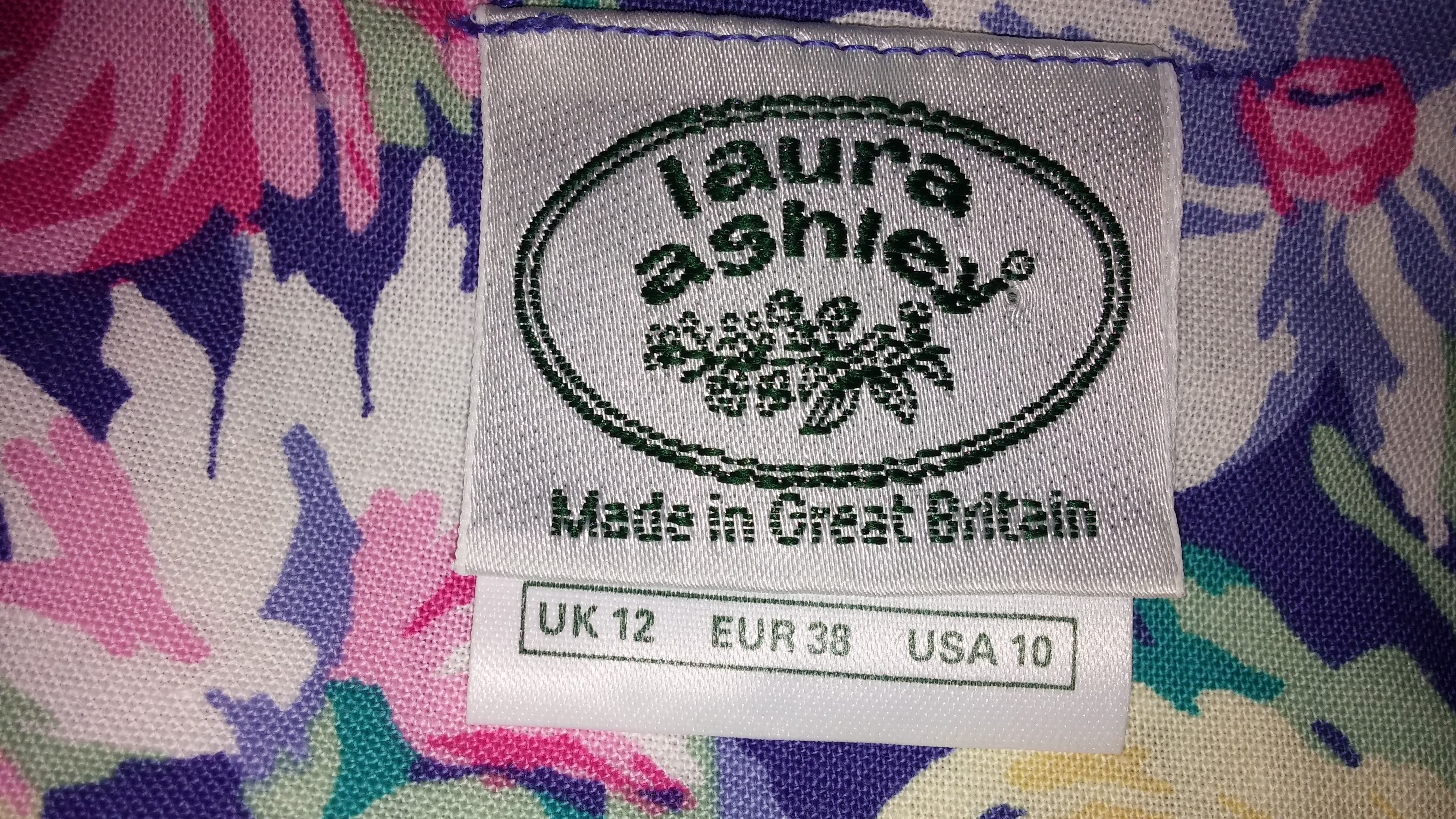 Laura Ashley Made In Great Britain 1980s Vintage Outfits Clothing Labels Online Vintage