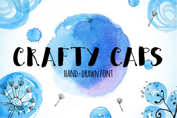 Check out Crafty CAPS hand-drawn font by Art-of-Sun on Creative Market