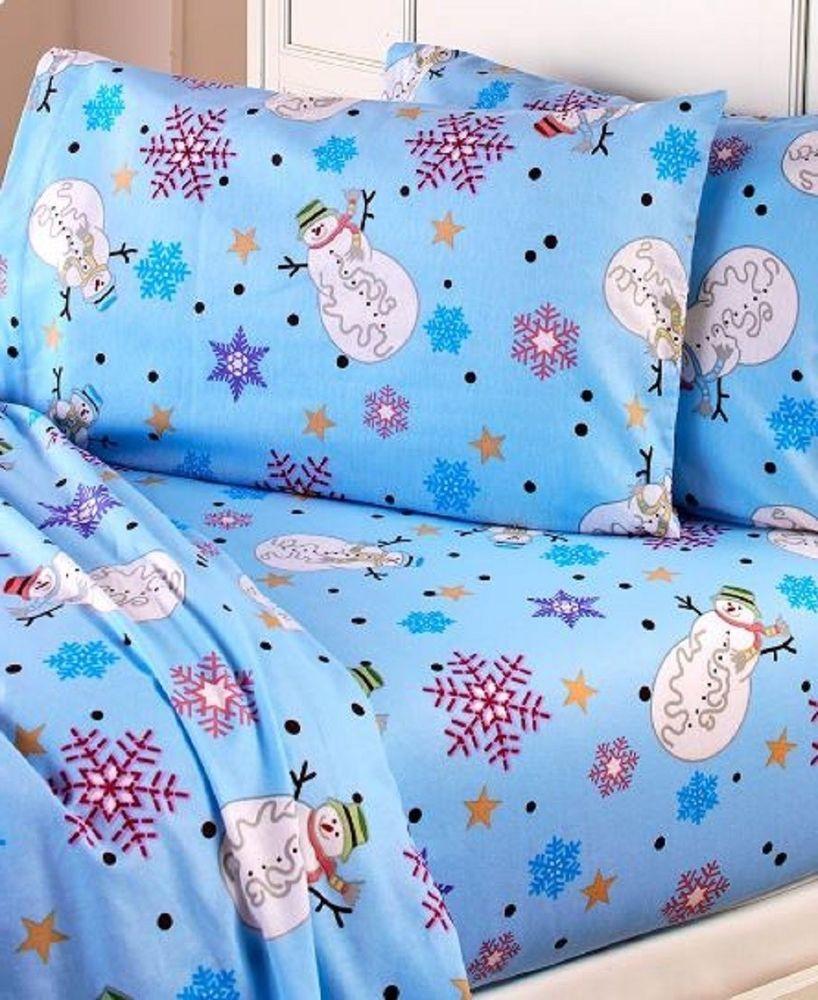 Superb Winter Flannel Sheet Set Holiday Bed Sheets Snowmen Owl Bedding Home  Bedroom Dec #Unbranded #Novelty