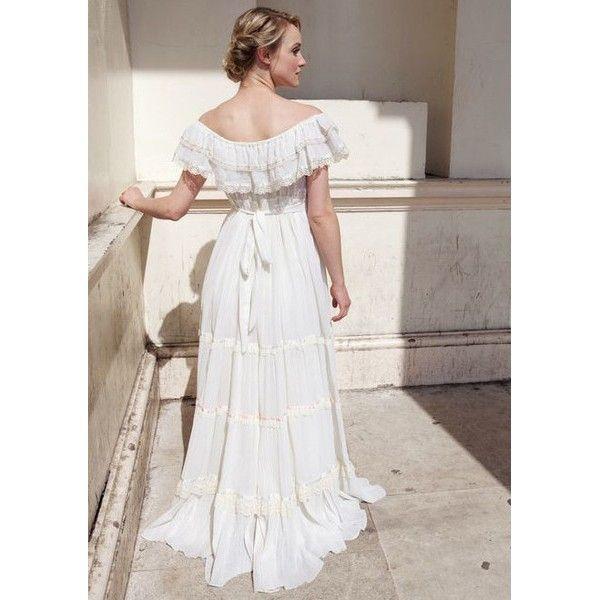 34fb405e22a Gunne Sax gypsy style vintage wedding dress back