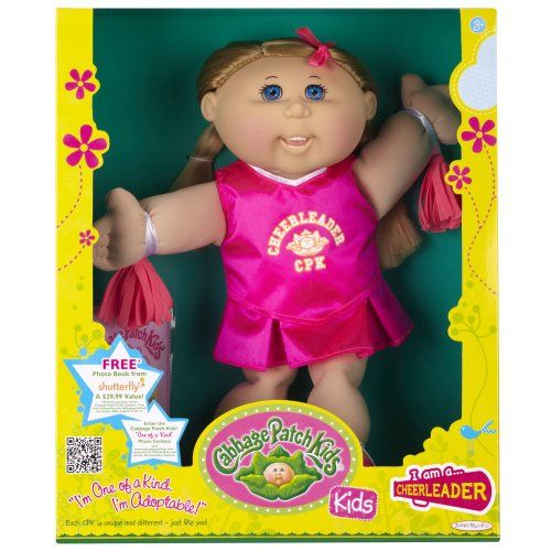 Cabbage Patch Kids Doll Cheerleader Caucasian Girl Blond Hair Continue To The Product At The Image Lin Cabbage Patch Kids Cabbage Patch Babies Patch Kids