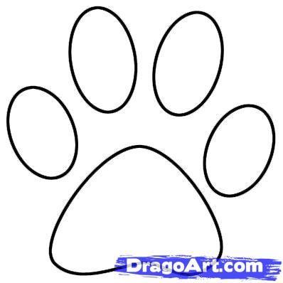 Draw A Paw Print By Dawn Dog Paw Drawing Cat Paw Print